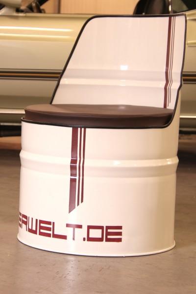 Öltonnensessel Turbo elfenbein