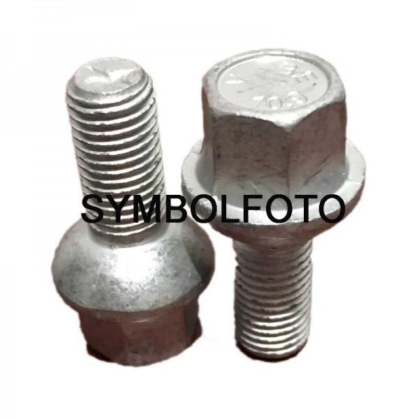 20 Radschrauben M12x1,5x40, SW17, 24mm Kugelbund verzinkt