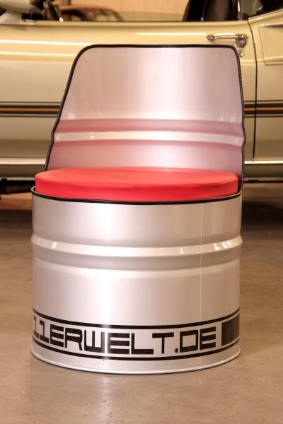 Öltonnensessel Turbo silber